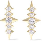 Noir Sirius gold-tone crystal earrings