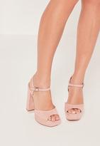Missguided Platform Heeled Sandals Pink