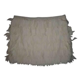 Haute Hippie Ecru Silk Skirt for Women