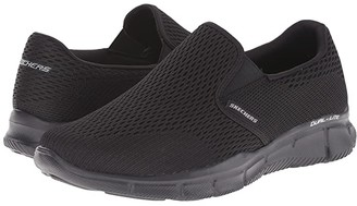 Skechers Equalizer Double Play (Charcoal/Orange) Men's Slip on Shoes