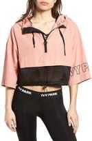 Ivy Park R) Hooded Crop Logo Jacket
