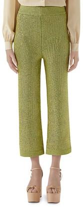 Gucci Crystal Viscose Cropped Pants