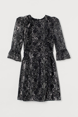 H&M Lace Mini Dress - Black