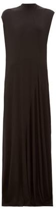 Balenciaga Sleeveless Draped Jersey Gown - Womens - Black