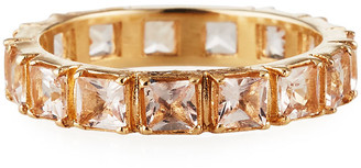 Armenta Cuento 14k Rose Gold Peach Morganite Band Ring, Size 6.5