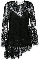 Zimmermann asymmetric lace blouse - women - Cotton/Polyamide/Silk - 0