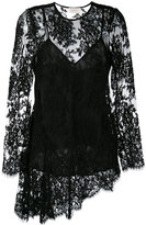 Zimmermann asymmetric lace blouse - women - Silk/Cotton/Polyamide - 0