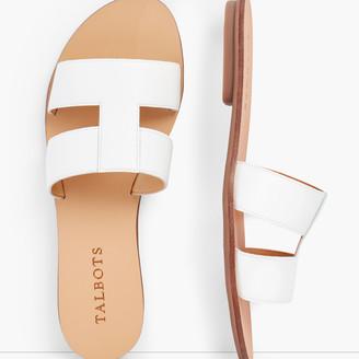 Talbots Hannah Vachetta Leather Slides
