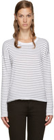 Rag & Bone White Vintage Stripe T-Shirt