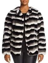Junarose Faux-Fur Stripe Jacket