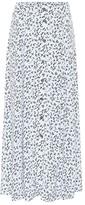 Thumbnail for your product : Ganni Printed high-rise crApe midi skirt