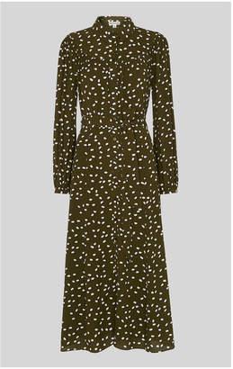 Whistles Shadow Spot Print Shirt Dress