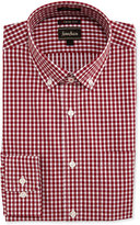 Neiman Marcus Extra Trim Fit Regular-Finish Check Dress Shirt, Red