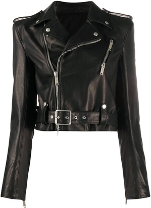 Unravel Project Belt-Detail Biker Jacket