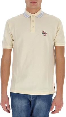 Gucci Cat Patch Embroidered Polo Shirt