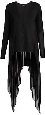 Akris Women's Chiffon Pleat Back Cardigan