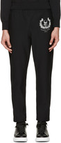 Alexander McQueen Black Skull and Crown Lounge Pants
