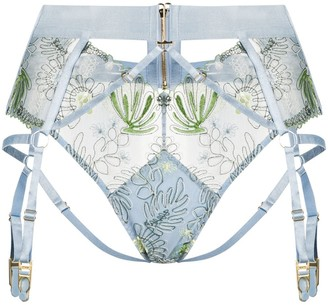 Bordelle Botanica high waist suspender brief