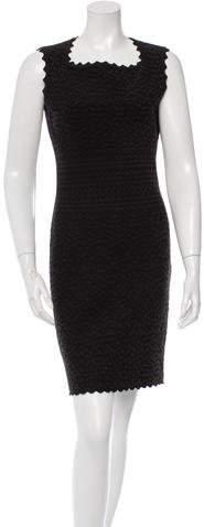 Alaia Patterned Stretch Knit Dress