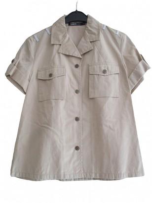 Cerruti Beige Cotton Top for Women