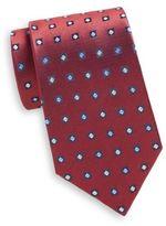 Saint Laurent Diamond Neat Silk Tie