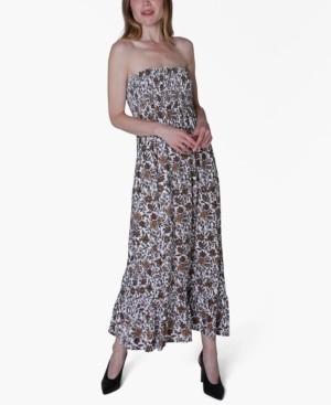 Ultra Flirt Juniors' Printed Strapless Maxi Dress