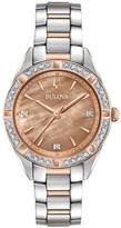Bulova Women's Sutton Diamond Two Tone Stainless Steel Watch - 98R264