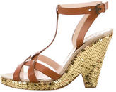 Moschino Multistrap Sequin Sandals