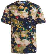 MSGM Floral Pattern T- Shirt