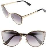 Jimmy Choo Women's 56Mm Cat Eye Sunglasses - Rose Gold