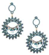 Azaara Blue Topaz, Blue Quartz and Sterling Silver Drop Earrings