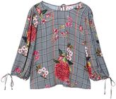 MANGO Floral prince of wales blouse