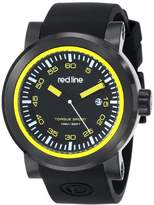"Redline red line Men's RL-50049-BB-01-YA ""Torque"" Stainless Steel Watch with Black Silicone Band"