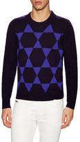 Diesel Black Gold Khrisalis-Star Wool Crewneck Sweater