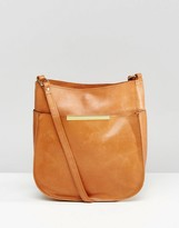 Asos Curved Vintage Leather Cross Body Bag
