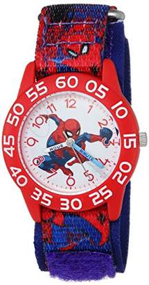 Marvel Boys Spider-Man Analog-Quartz Watch with Nylon Strap