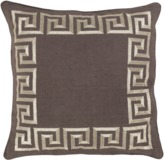 The Well Appointed House Surya Greek Key Pillow in Charcoal and Gold-Available in Three Different Sizes