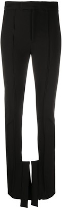 Ssheena Structured-Hem High-Rise Trousers