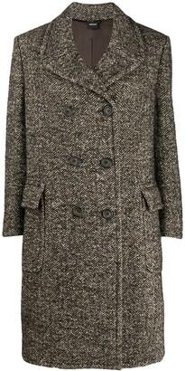 Aspesi herringbone double-breasted coat
