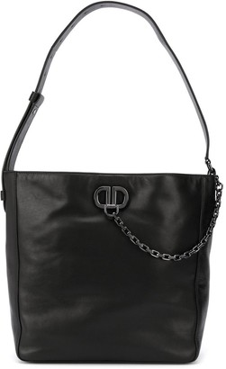 DKNY Chain Logo Plaque Shoulder Bag