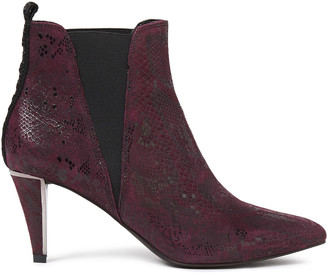 DKNY Snake-effect Suede Ankle Boots