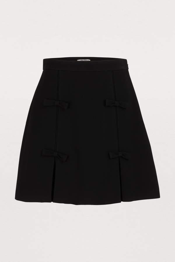 Miu Miu Bow mini skirt