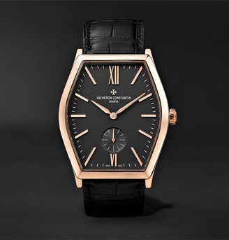 Vacheron Constantin Malte Hand-Wound 42mm 18-Karat Pink Gold And Alligator Watch, Ref. No. 82230/000r-9716