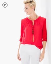 Chico's Pearl Peasant Top