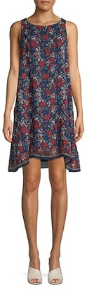 Max Studio Floral-Print Sleeveless Shift Dress