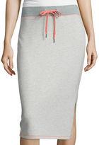 Liz Claiborne Drawstring Knit Midi Skirt - Tall