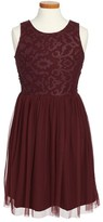 Ruby & Bloom Girl's Sleeveless Lace Dress