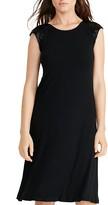 Lauren Ralph Lauren Beaded Cap Sleeve Jersey Dress