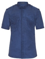 Bottega Veneta Short-sleeved Faded Cotton Shirt