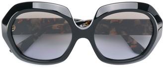 Emmanuelle Khanh round oversized sunglasses
